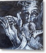 Old Man With Messianic Hands Metal Print