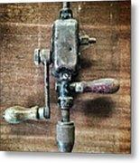 Old Manual Drill Metal Print