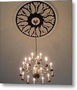 Old Meeting House Chandelier Metal Print