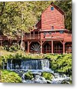 Old Mill And Waterfall Metal Print