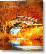 Old Mill Bridge Metal Print