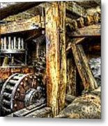Old Mill Cogs Metal Print