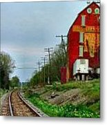 Old Mill On The Tracks Metal Print