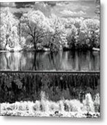 Old Mill Pond In Infrared Metal Print