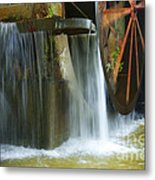 Old Mill Water Wheel Metal Print