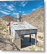 Old Mine On Old Toll Road In Death Valley Metal Print