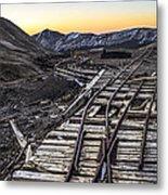 Old Mining Tracks Metal Print