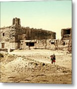 Old Mission Church At Acoma Metal Print
