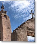 Old Mission Crosses Metal Print
