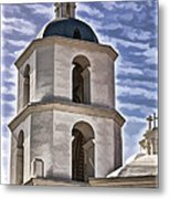 Old Mission San Luis Rey Tower - California Metal Print