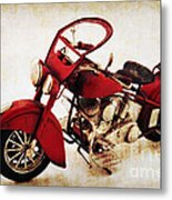 Old Motor-bike Metal Print by Angela Doelling AD DESIGN Photo and PhotoArt