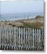 Old Nantucket Fence Metal Print