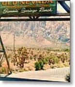 Old Nevada Entrance Metal Print