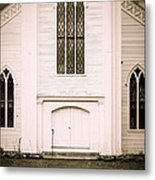 Old New England Gothic Church Metal Print