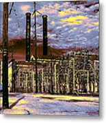 Old New Orleans Electric Plant Metal Print