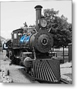 Old No. 7 Black White And Blue Metal Print