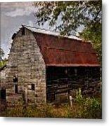 Old Oak Barn Metal Print by Marty Koch