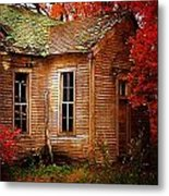 Old One Room School House In Autumn Metal Print