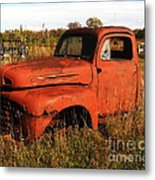 Old Orange Metal Print