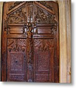Old Ornamented Door Metal Print