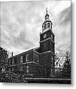 Old Otterbein Church In Black And White Metal Print