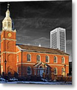 Old Otterbein U M C Selective Color Metal Print
