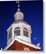 Old Otterbein Umc Moon And Bell Tower Metal Print