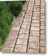 Old Pavers Alley Metal Print by Olivier Le Queinec