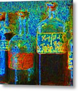 Old Pharmacy Bottles - 20130118 V1a Metal Print by Wingsdomain Art and Photography