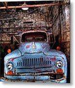 Old Pickup Truck Hdr Metal Print