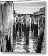 Old Pier In Provincetown Cape Cod Metal Print