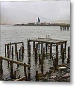Old Pier In Siglufjordur Metal Print