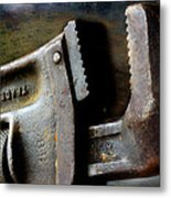 Old Pipe Wrench Metal Print