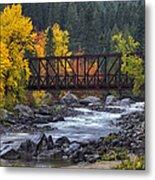 Old Pipeline Bridge Metal Print