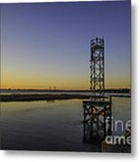Old Pit Street Bridge To Ravenel Bridge Metal Print