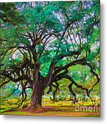 Old Plantation Oak Metal Print