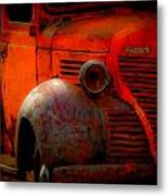 Old Plymouth Red Metal Print