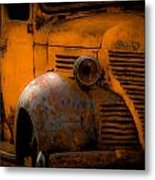 Old Plymouth Yellow Metal Print