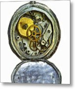 Old Pocket Watch Metal Print