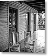 Old Porch Rockers Metal Print