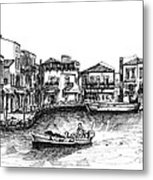 Old Port- Rethymno Metal Print
