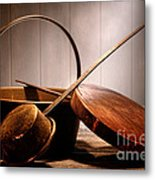 Old Pots And Pans Metal Print by Olivier Le Queinec
