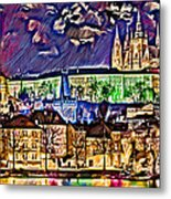 Old Prague Magic - Wallpaper Metal Print by Daniel Janda