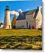 Old Presque Isle Lighthouse Metal Print