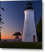 Old Presque Isle Lighthouse Metal Print by Thomas Pettengill