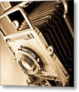 Old Press Camera Metal Print by Edward Fielding