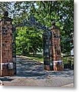 Old Queens Entrance Gate Metal Print