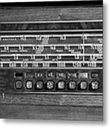 Old Radio Change The Station Metal Print