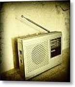 Old Radio Metal Print