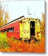 Old Rail Car Metal Print
